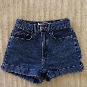 Dark Wash American Apparel Denim Shorts